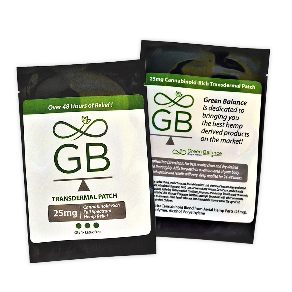 25mg Transdermal Patch Green Balance Health Amp Wellness